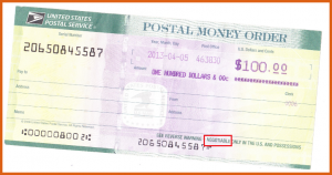 money order example